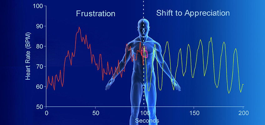 Human Heart Rate Variability - Relieve pressure with breathing... from frustration to appreciation